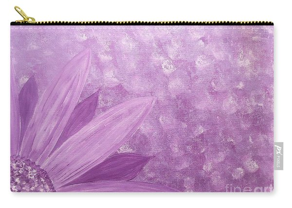 All Purple Flower Carry-all Pouch