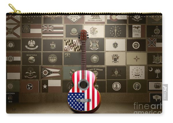 All State Flags - Retro Style Carry-all Pouch