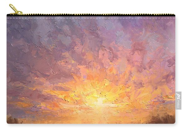 Impressionistic Sunrise Landscape Painting Carry-all Pouch