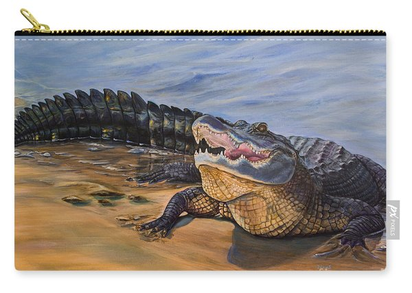 Alligator. Face To Face Carry-all Pouch