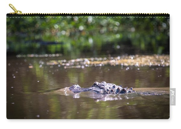 Alligator Swimming In Bayou 1 Carry-all Pouch