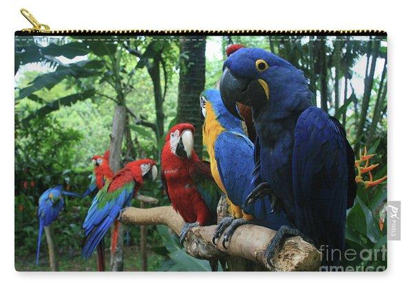 Aloha Kaua Aloha Mai No Aloha Aku Beautiful Macaw Carry-all Pouch