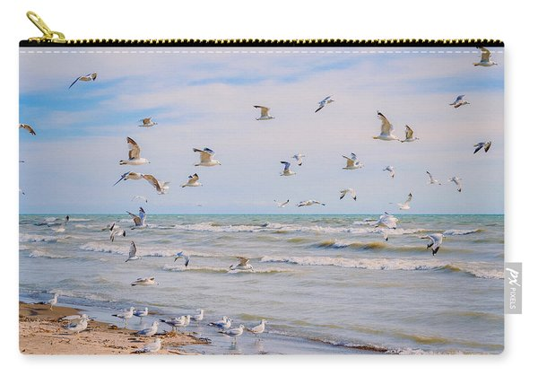 Carry-all Pouch featuring the photograph Along The Beach by Garvin Hunter