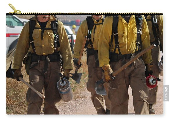 Carry-all Pouch featuring the photograph Alpine Hotshots Prepare To Ignite Cold Brook Prescribed Fire by Bill Gabbert