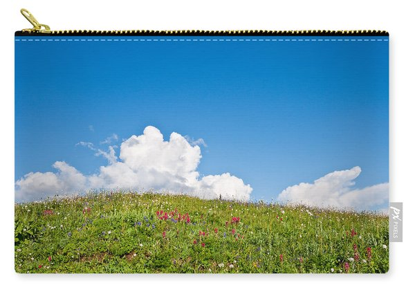 Alpine Meadow And Cloud Formation Carry-all Pouch