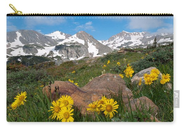 Alpine Sunflower Mountain Landscape Carry-all Pouch