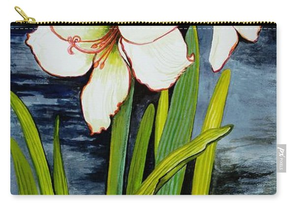 Amaryllis Against A Night Sky Carry-all Pouch