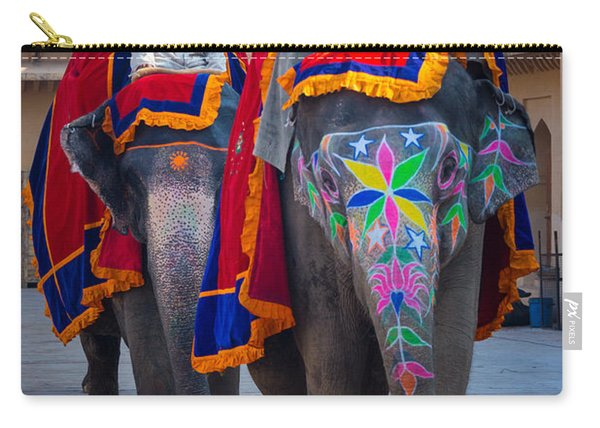 Amber Fort Elephants Carry-all Pouch
