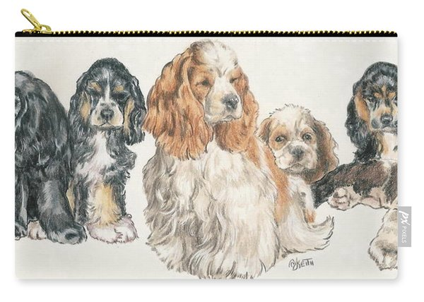 American Cocker Spaniel Puppies Carry-all Pouch