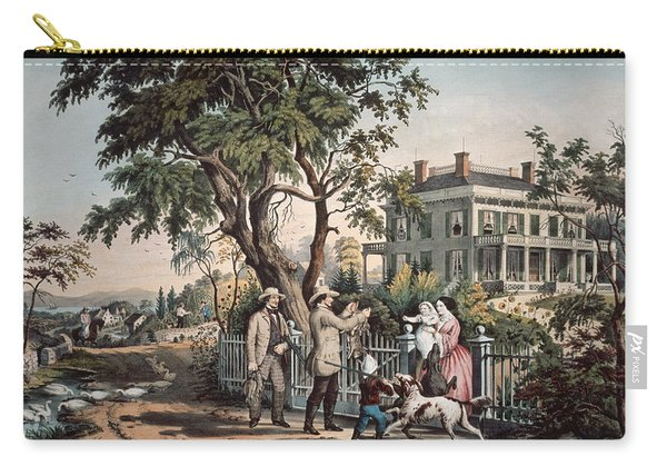 American Country Life  October Afternoon, 1855  Carry-all Pouch