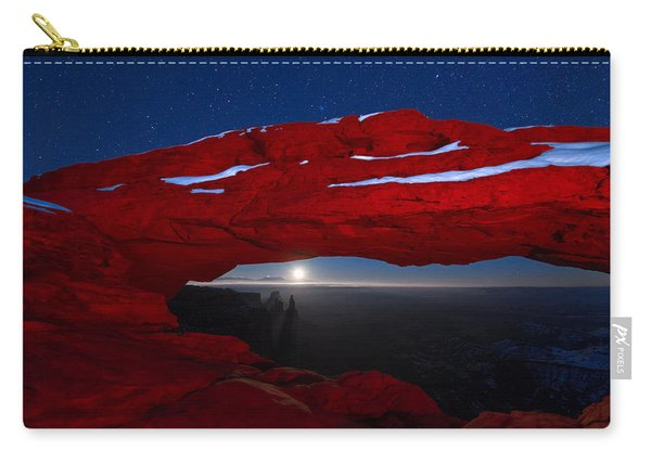 Carry-all Pouch featuring the photograph American Moonrise by Dustin  LeFevre