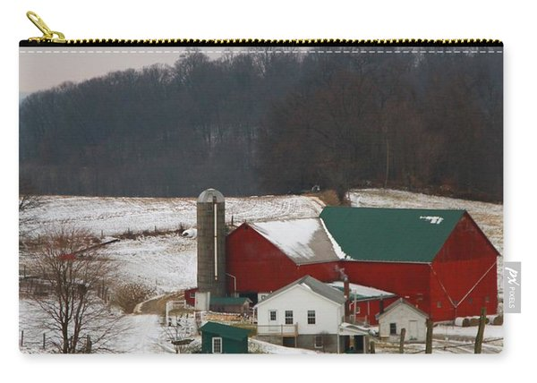 Amish Barn In Winter Carry-all Pouch
