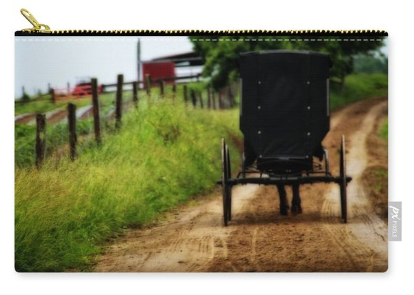 Amish Buggy On Dirt Road Carry-all Pouch