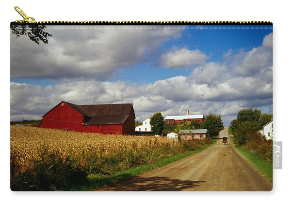 Amish Farm Buildings And Corn Field Carry-all Pouch