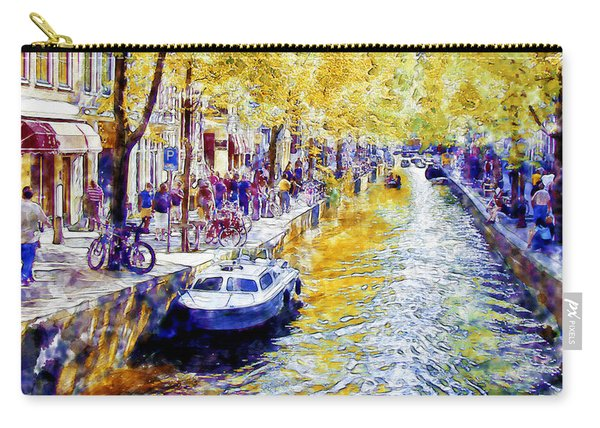 Amsterdam Canal Watercolor Carry-all Pouch