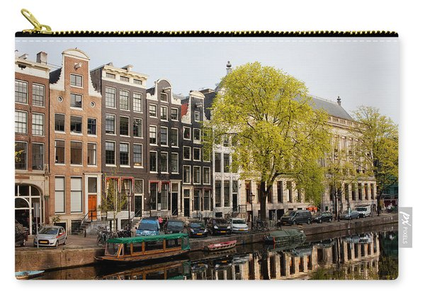 Amsterdam Houses Along The Singel Canal Carry-all Pouch