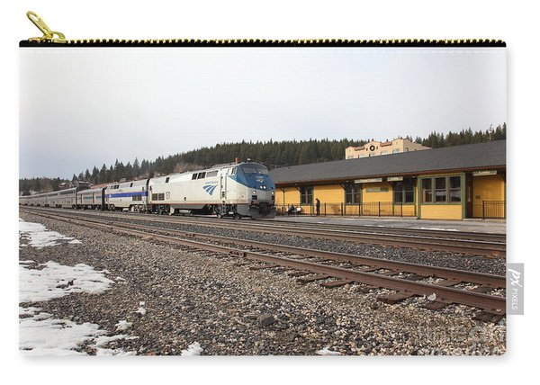 Amtrak California Zephyr Trains At The Snowy Truckee California Train Station 5d27524 Carry-all Pouch