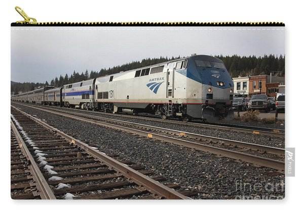 Amtrak California Zephyr Trains In Snowy Truckee California 5d27528 Carry-all Pouch