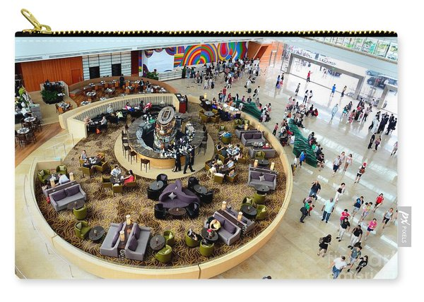 An Aerial View Of The Marina Bay Sands Hotel Lobby Singapore Carry-all Pouch