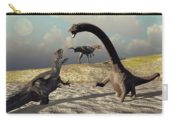 An Allosaurus And Diplodocus Dinosaur Carry-all Pouch