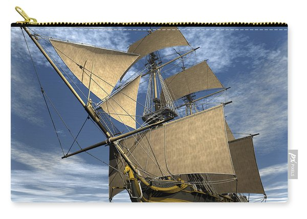 An Old Sailing Ship Navigating Carry-all Pouch
