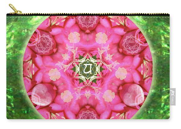 Anahata Rose Carry-all Pouch