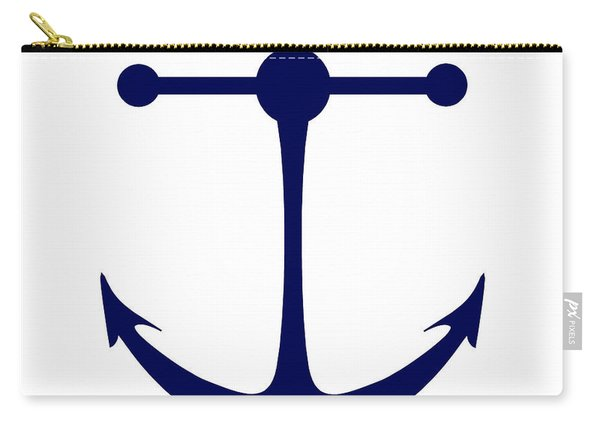 Anchor In Navy And White Carry-all Pouch