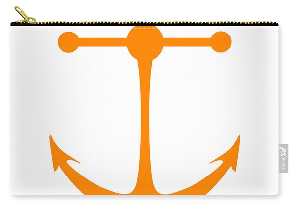 Anchor In Orange And White Carry-all Pouch