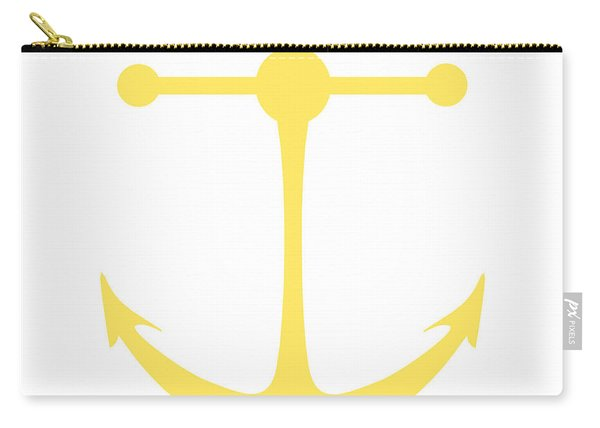 Anchor In Yellow And White Carry-all Pouch