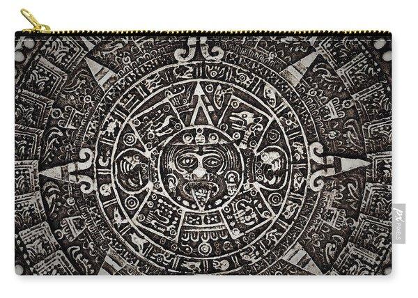 Aztec Sun God Carry-all Pouch