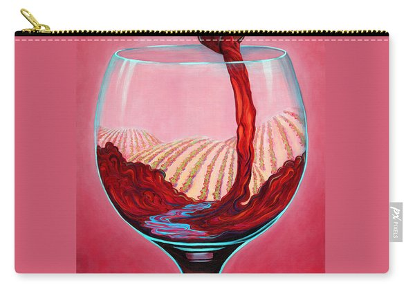 Carry-all Pouch featuring the painting ...and Let There Be Wine by Sandi Whetzel