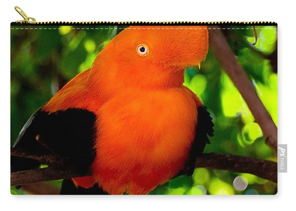 Andean Cock Of The Rock Carry-all Pouch