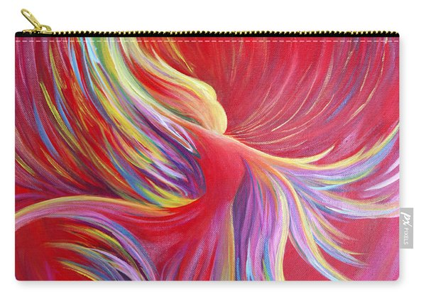 Carry-all Pouch featuring the painting Angel Dance by Nancy Cupp