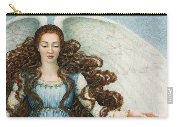 Angel In A Blue Dress Carry-all Pouch