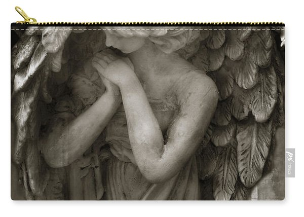 Angel Photography Spiritual Angel  - Guardian Angel In Prayer - Angel Praying  Carry-all Pouch