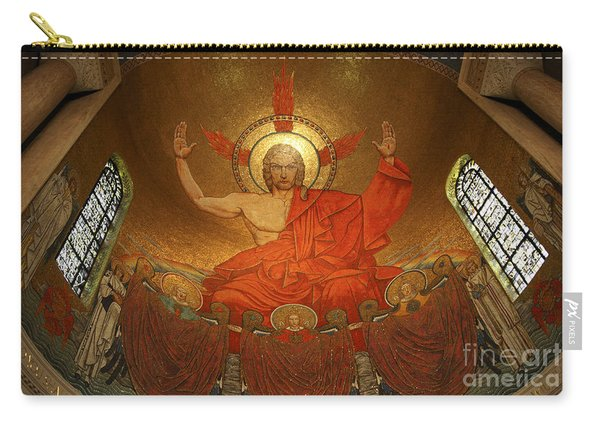 Angry God Mosaic At The Shrine Of The Immaculate Conception In Washington Dc Carry-all Pouch