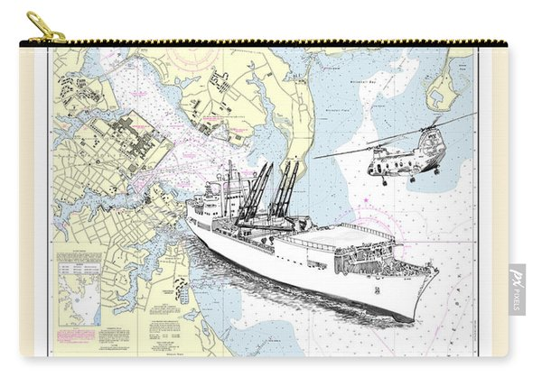 Annapolis Harbor Transport Ship Chopper Carry-all Pouch