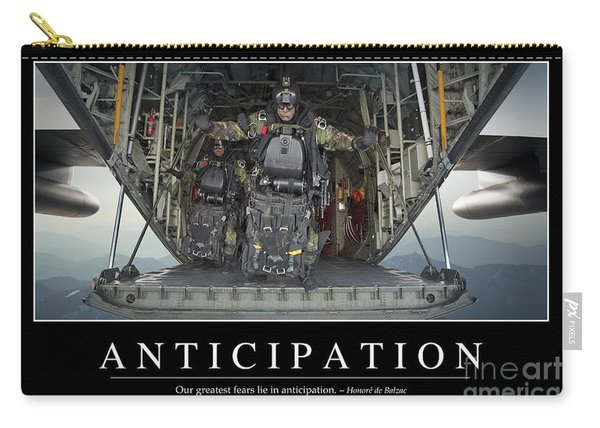 Anticipation Inspirational Quote Carry-all Pouch