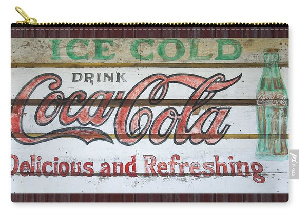 Antique Coca Cola Sign  Carry-all Pouch