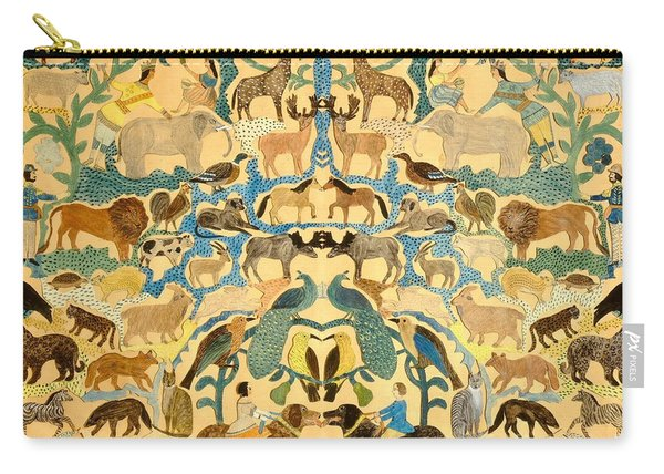 Antique Cutout Of Animals  Carry-all Pouch