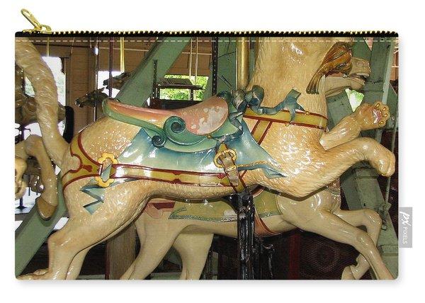 Antique Dentzel Menagerie Carousel Cat Carry-all Pouch