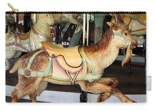 Antique Dentzel Menagerie Carousel Goat Carry-all Pouch