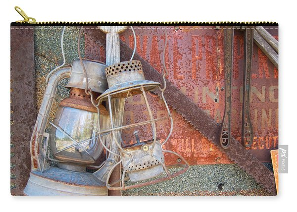 Carry-all Pouch featuring the photograph Antique Kerosene Lamps by Mary Lee Dereske