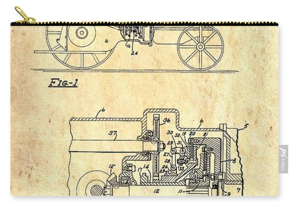 Antique Massey-ferguson Tractor Patent 1935 Carry-all Pouch