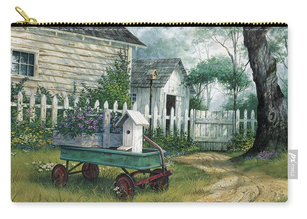 Antique Wagon Carry-all Pouch