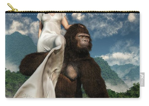 Ape And Girl Carry-all Pouch