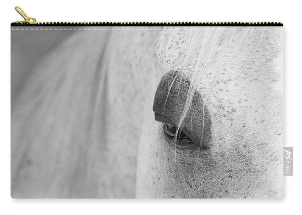Carry-all Pouch featuring the photograph Appaloosa Eye by Mary Lee Dereske