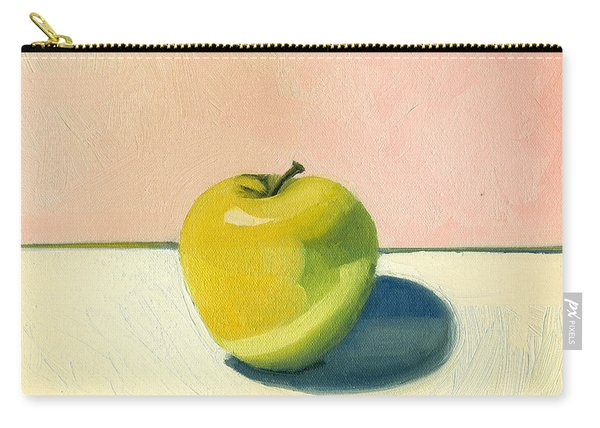 Apple - Pink And White Carry-all Pouch