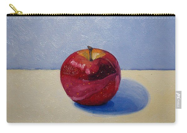 Apple - White And Blue. Carry-all Pouch