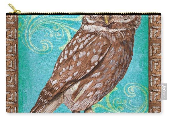 Aqua Barn Owl Carry-all Pouch
